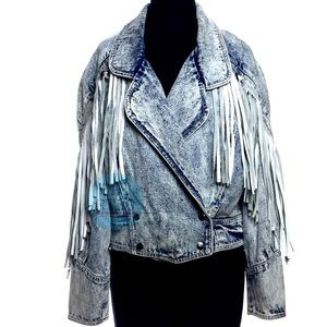 80s Stefano Int'l Acid Wash Jean Jacket
